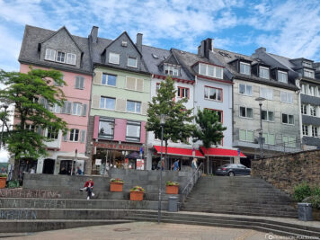 Colourful houses on the market square