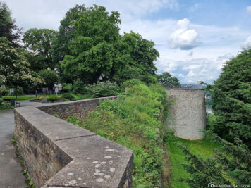 Fortress wall at the castle park