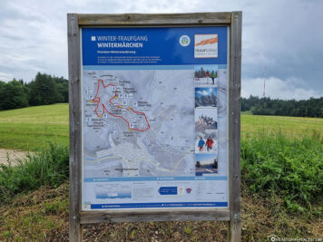 Hiking trails around the Raichberg