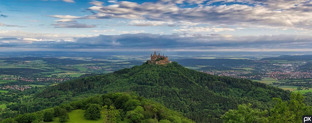 Hohenzollern Castle, Location, Baden-Württemberg, Mountain, Hill