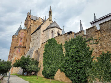The southwest side of the castle