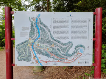 Hiking map of the waterfalls