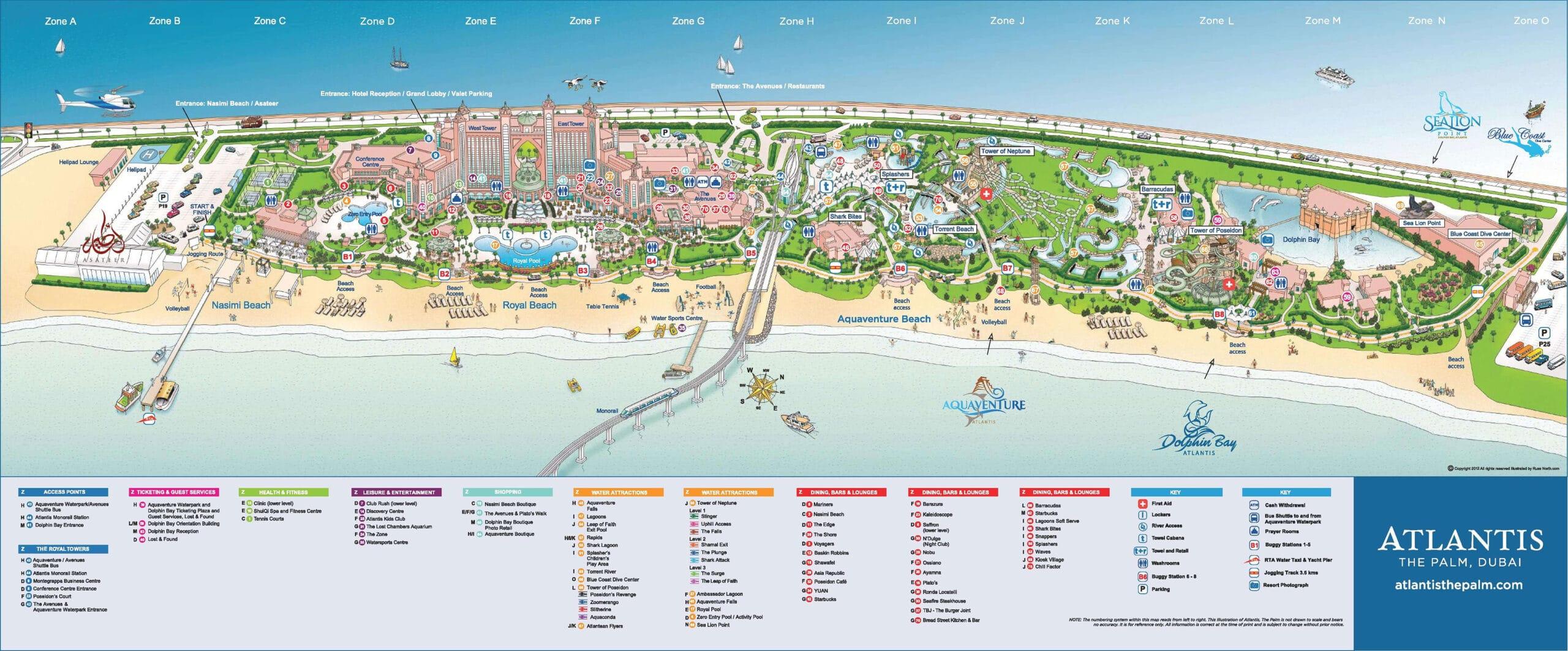 Atlantis the Palm Dubai Map