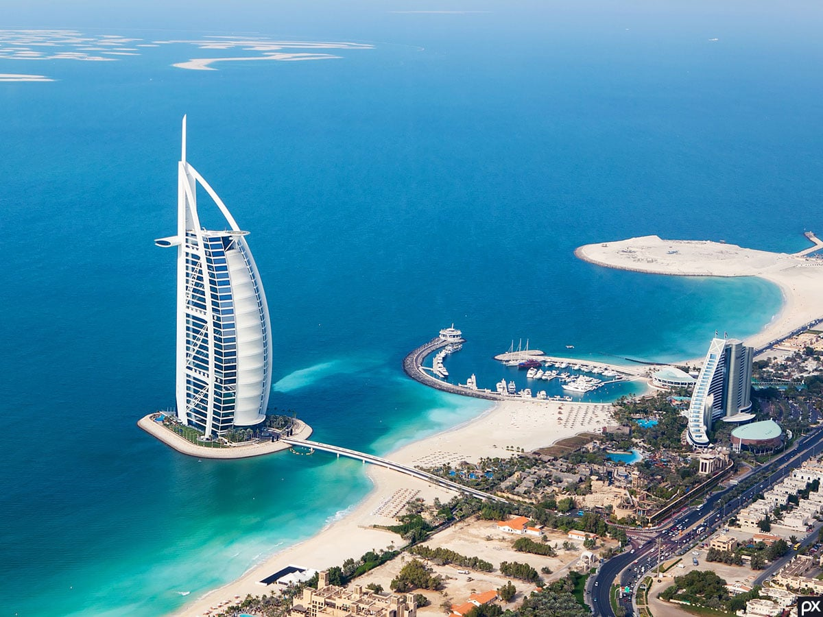 Burj Al Arab, Helikopter, Fotospot