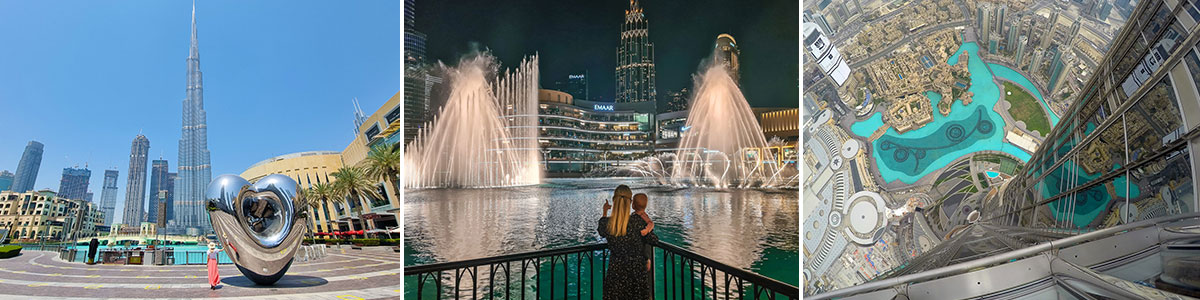 Burj Khalifa Dubai Downtown Headerbild