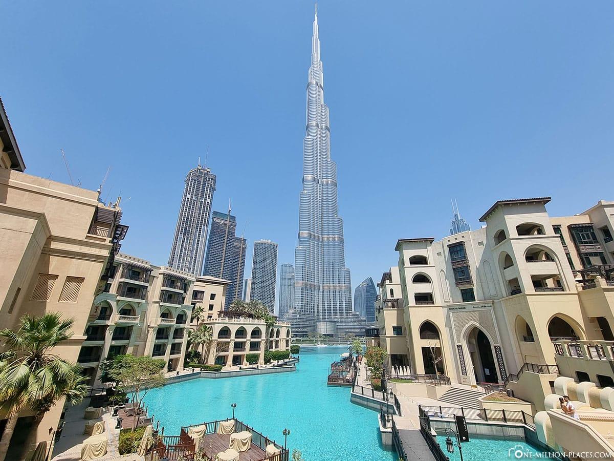 Souk Al Bahar, Ausblick, Burj Khalifa