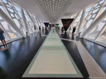 Die begehbare Glasbrücke