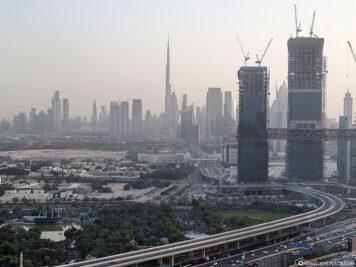 Blick auf Downtown Dubai