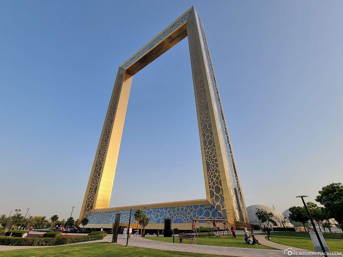 Dubai Frame, Wahrzeichen von Dubai, Sehenswürdigkeiten, Ausflusgstipps, Riesiger Bilderrahmen