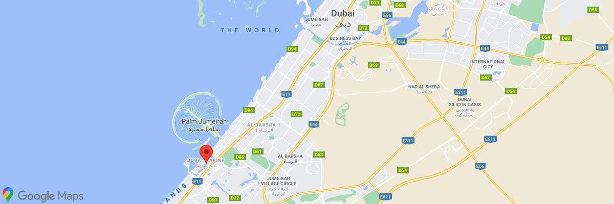 Dubai Marina Location, Map