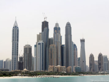 View of the Dubai Marina Skyline 2003