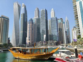The Dubai Marina skyline