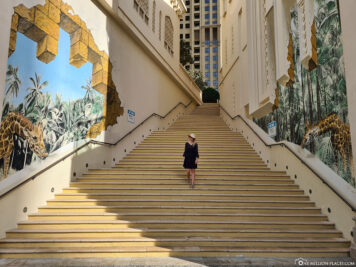 The large stairs of the JBR