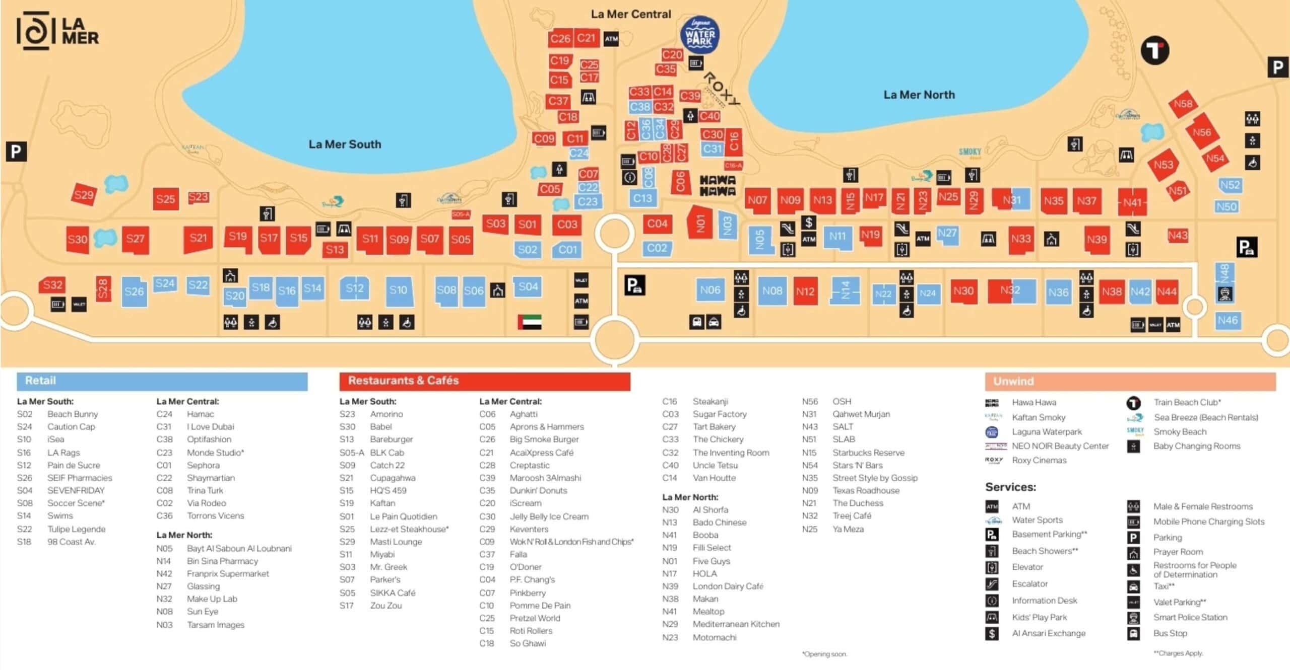 Karte, La Mer, Dubai, Plan