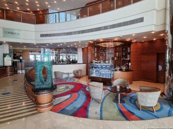 Das Circle Café in der Lobby