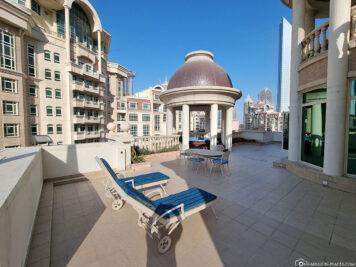 Die private Terrasse mit Außen-Whirlpool