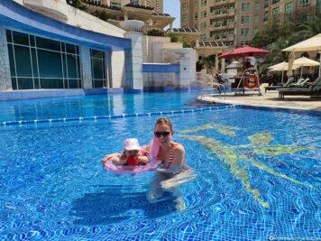Der Pool des Hotels