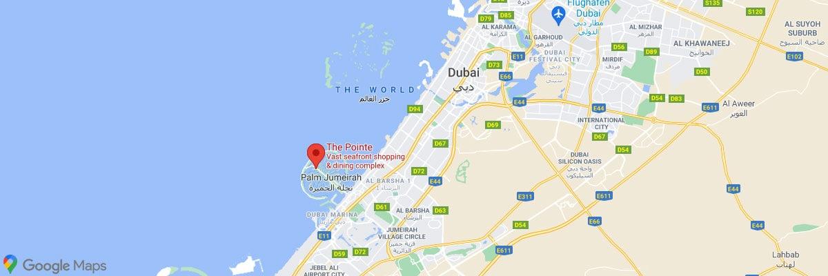 The Pointe, Dubai, Location, Palm Jumeirah