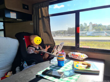 Our child seat in the camper