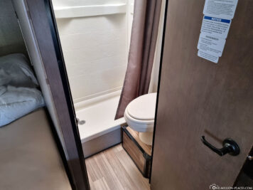 The toilet & shower