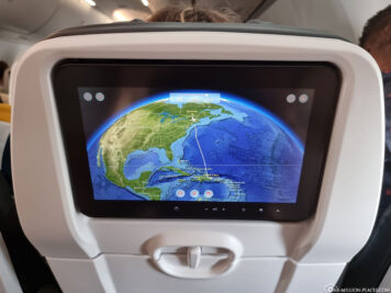 Our flight route to Canada