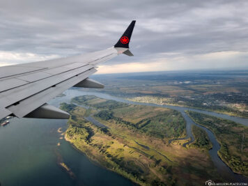 Flight over the St. Lawrence River