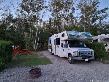 The campsite in Tadoussac