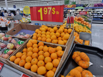 Prices for fruit