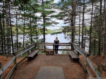 Ausblick auf den Wapizagonke Lake
