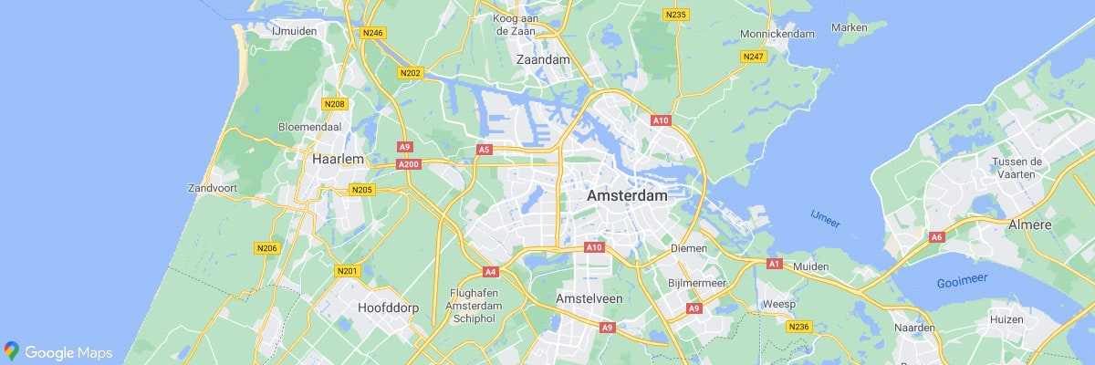 Amsterdam, Location, Map, Google