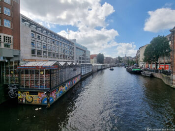 The floating barges