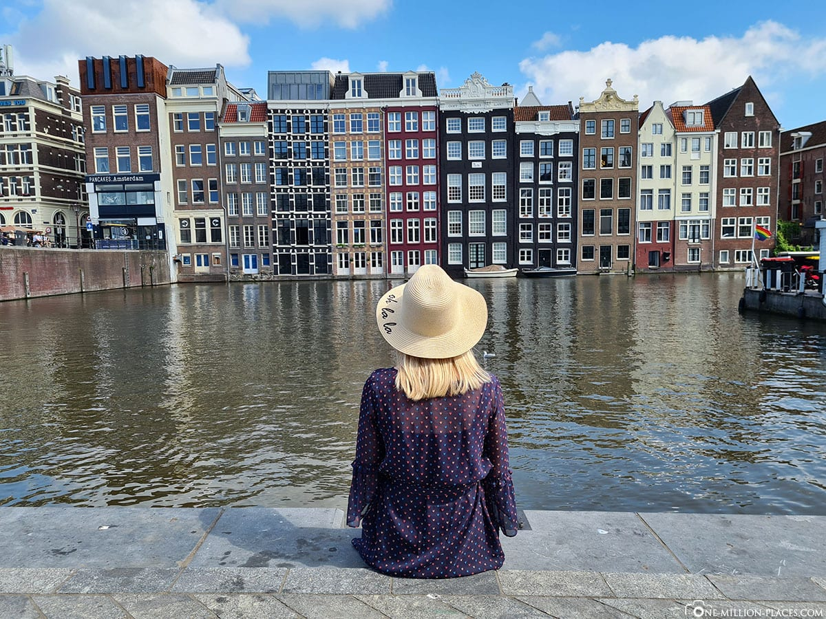 Colorful Houses, Dancing Houses, Damrak Canal, Amsterdam, Netherlands, Sightseeing