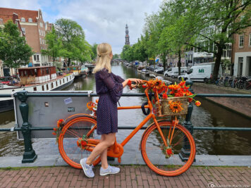 The canals in Amsterdam