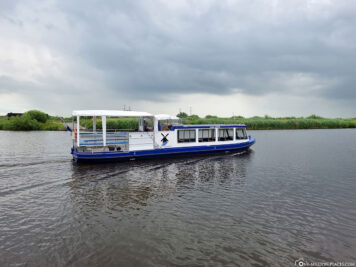 A boat ride through the canal