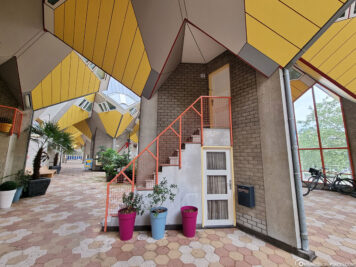 Entrance to the cube apartment