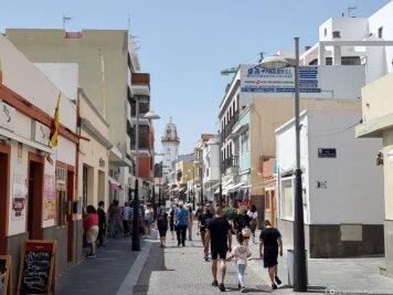 Die Einkaufsstrasse in Candelaria