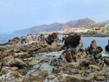 Blick auf die Felsformation Los Gigantes