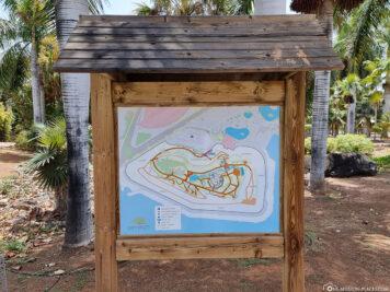 Eine Übersichtskarte des Palmetum