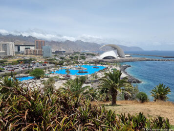 Ausblick auf den Parque Marítimo & das Auditorio de Tenerife