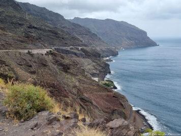 Blick entlang der Ostküste