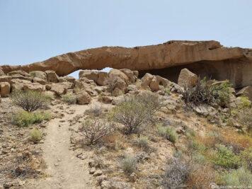 Der Steinbogen in Teneriffa