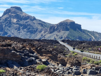 The cooled lava fields