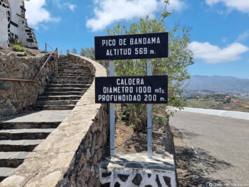 The mountain peak Pico de Bandama