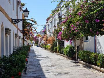 An alley in Puerto de Mogan