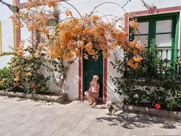 The white alleys in Puerto de Mogan