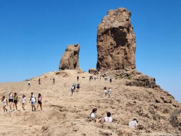 The 65 meter high basalt rock