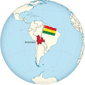 Bolivia Globe