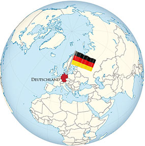 Germany Globe