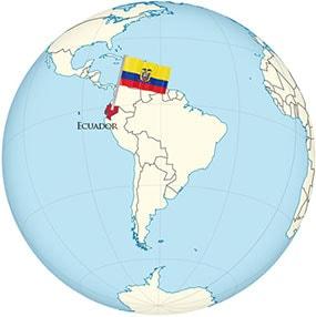 Ecuador Globe