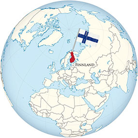 Finnland Globe